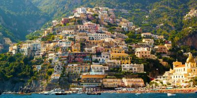 View of the Amalfi Coast from the water