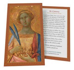 St. Corona Prayer Card, TravelItalyExpert.com