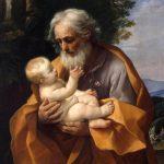 St. Joseph holding baby Jesus
