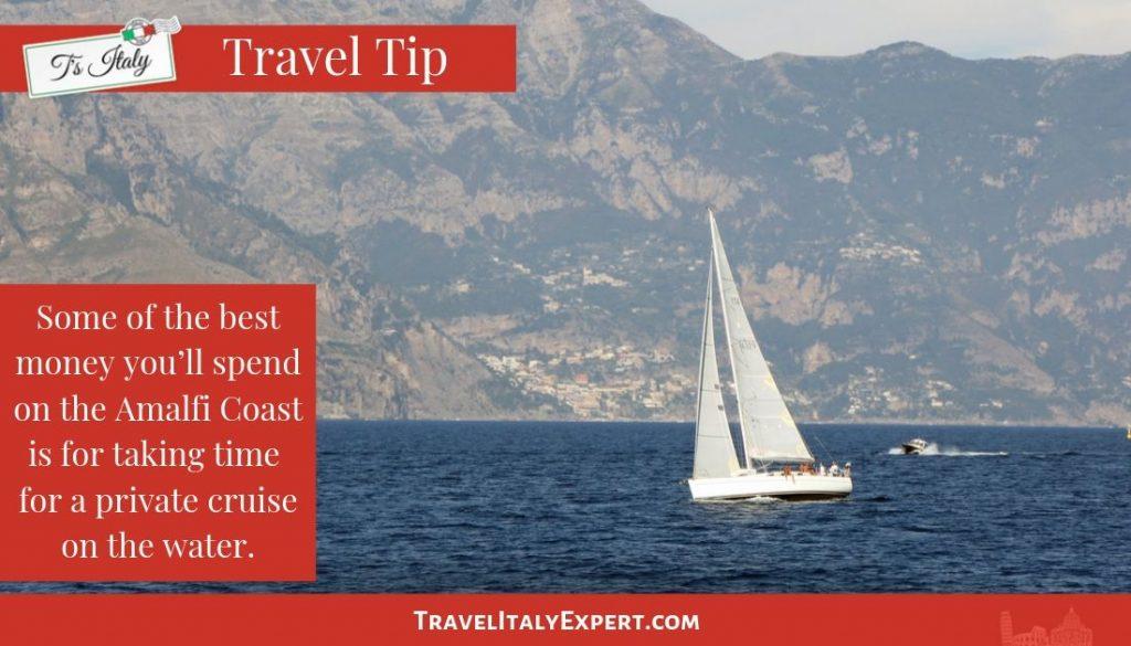 Sailboat on the Amalfi Coast, Italy