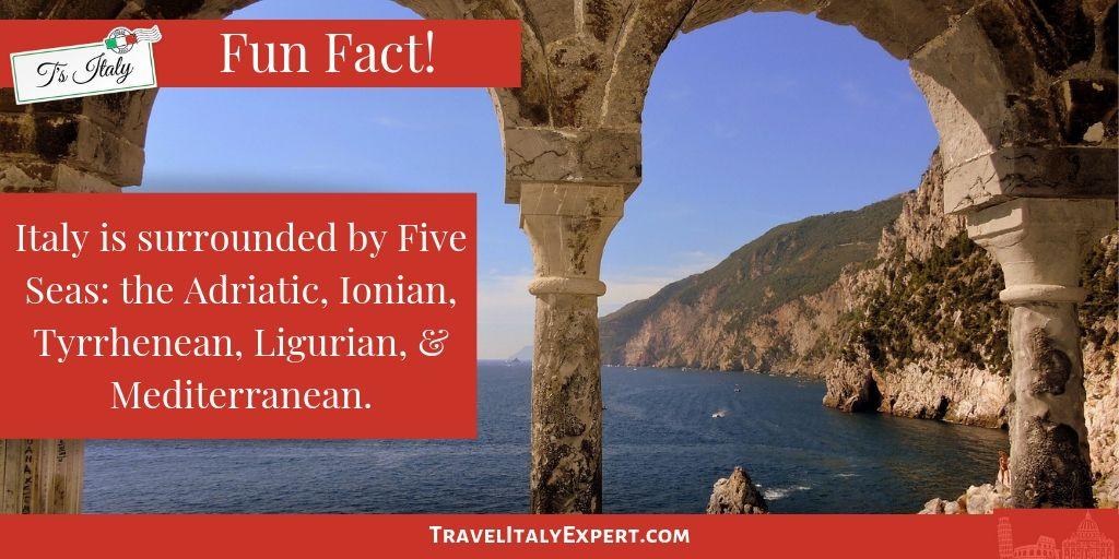 The 5 Seas of Italy Fun Fact