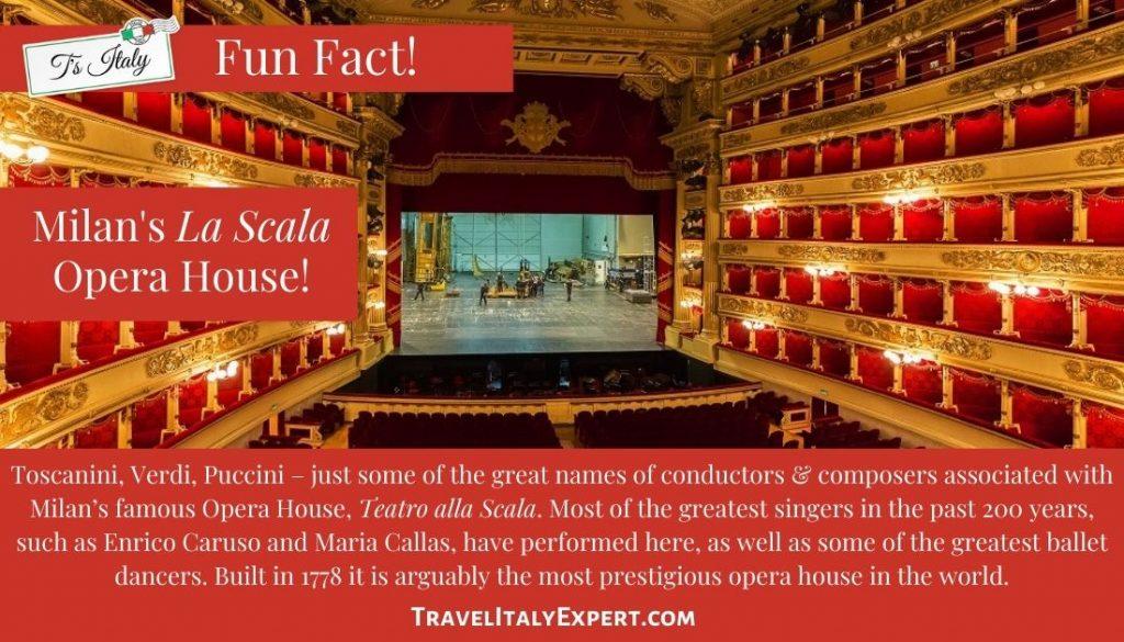 La Scala Opera House Fun Fact