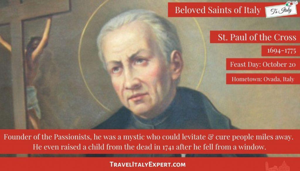 St. Paul of the Cross Saint Fact