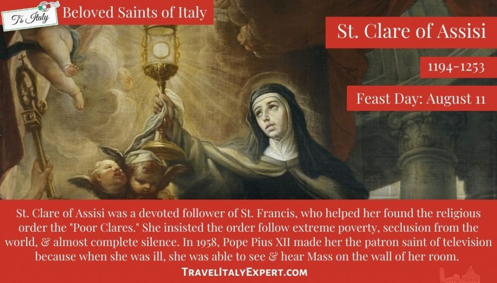 St. Clare of Assisi facts