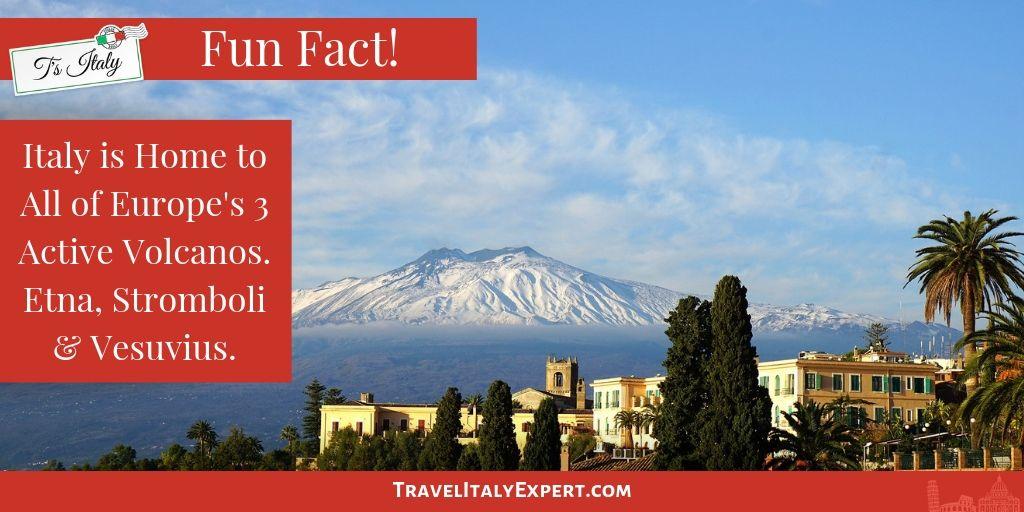 Italy Volcano Fun Fact