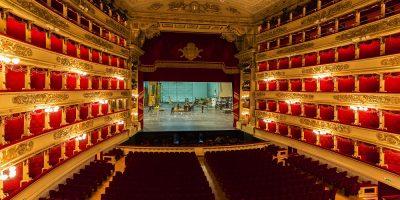 La Scala Opera House stage, Milan, Italy