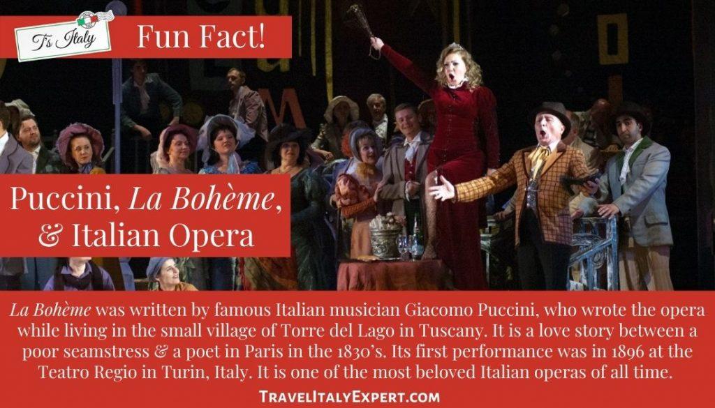 Puccini, La Boheme Fun Facts