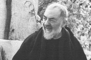 Padre Pio smiling